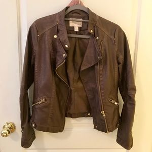 Forever 21 Leather Bomber Jacket